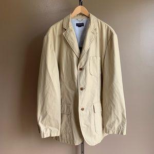 XL Lands' End cotton blazer sport coat jacket